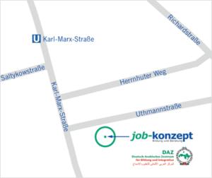 Standort DAZ Deutsch-Arabisches-Zentrum Uthmannstraße Anfahrt