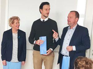 Standort Marzahn – feierliche Eröffnung mit  Heike Seibt-Lübbe mit Gordon Lemm und Stefan Komoß